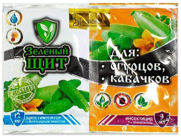 Зеленый щит для огурцов и кабачков 12 мл + 3 мл
