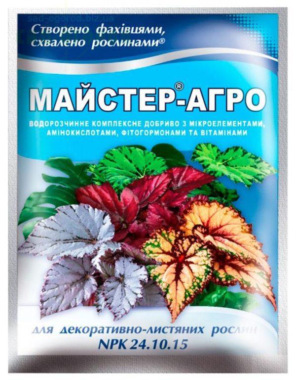 Mастер-Агро для декоративно-лиственных растений, 25 г