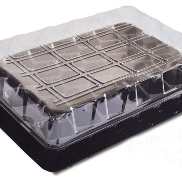 Парник- кассета для рассады с поддоном и крышкой, 33 ячейки
