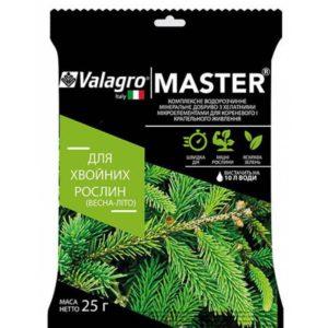 Комплексное минеральное удобрение для хвойных растений Master 25 г NPK 18.18.18, Весна-Лето, Valagro