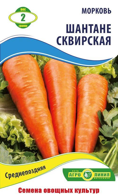 Семена моркови Шантане Сквирская, 2 г.