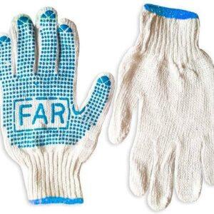 Перчатки трикотажные с нанесением ПВХ-точки FAR , вес 600 г, упаковка 12 пар