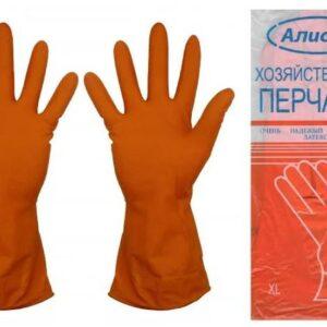 Перчатки латексные хозяйственные Алиско размер xl, упаковка 12 пар